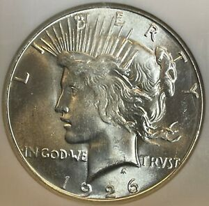 1926-S Peace Dollar NGC MS65. CAC Bright Flashy And Attractive. PQ