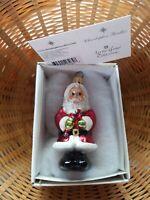 Vintage Radko Jolly Couple Gem Christmas Ornament Box Tag 99-967 Mr & Mrs Claus