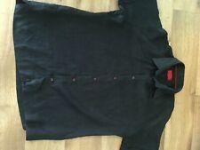 Hugo Boss Black Lino Camisa Tamaño XL