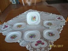 Johnson Brothers Vintage Snow White Regency Square 6 Fruit Plates England