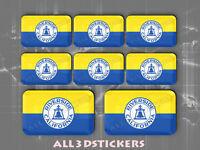 3D Emblem Sticker Resin Domed Flag Hawaii USA Adhesive Decal Vinyl