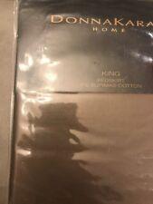 Donna Karan Home Bedskirt 510 TC Supima Cotton KING Bedskirt Shiitake Brown Bed