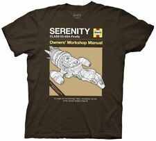 Serenity Movie/Firefly Haynes Owners' Workshop Manual Cover T-Shirt New Small