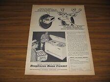 1951 Print Ad Deepfreeze Home Freezers Fishermen Put Fish in Freezer Chicago,IL