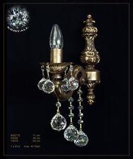 Cristallo Lampada da parete Vintage in metallo e vero