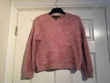 Topshop Pink Fluffy Long Sleeve jumper size 8 Petite