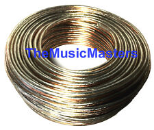 Premium 14 Gauge 50' ft Classic Clear SPEAKER WIRE Cable Car Audio Home Stereo