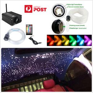 RGBW LED Car Roof Ceiling Headliner Star Light Fiber Optic Phone &Remote Control