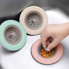 Kitchen Bathroom Silicone Sink Strainer Hair Catcher Shower Cover Trap Basin NEW