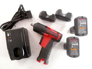 Snap On CT761A 14.4v 3/8 MicroLithium Cordless Impact W/2/ CTB8174 & CTC772A !