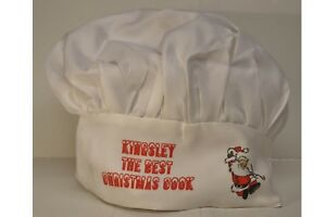 Personalised white Chefs hat