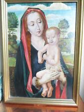VIERGE a LENFANT d aprés HUGO VAN DER GOES peinture