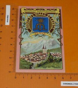 CHROMO 1900-1905 CHOCOLAT GUERIN-BOUTRON ARMES VILLES FRANCE MENDE LOZERE