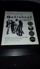 Radiohead Creep Rare Original Radio Promo Poster Ad Framed!
