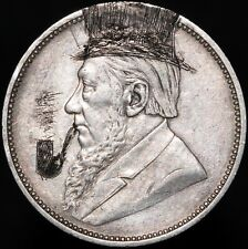 More details for 1897 | south africa 2 shillings 'engraved/graffiti' | silver | coins | km coins