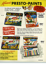 1964 PAPER AD 2 Sided Kenner Toy Presto Paint Mighty Mouse Popeye Three Stoogies