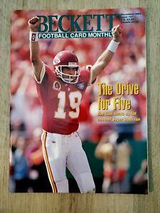 Beckett Football Card Monthly December 1994 Issue #57 Joe Montana