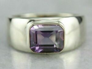 Natural Gemstone Amethyst 925 Sterling Silver Men Ring, Handmade Ring For Men