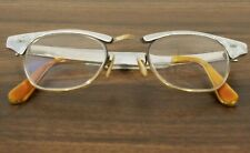 Vintage Us Optical 5 1/2 womens 1/10 12K Gf Eyeglass Frame 22 cat eye bifocals
