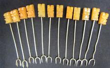 Vintage Onyx Tiki Cocktail Hors D'Oeuvre Appetizer Forks