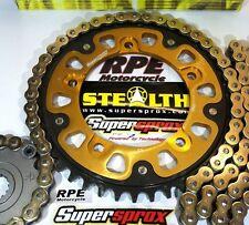 Triumph 865 Scrambler Chain and Sprockets Kit  Supersprox DID Gold 525 X-Ring QA