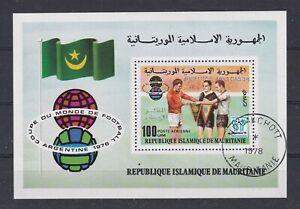 7467 Mauretanien Fußball WM 1978 Block 22 gestempelt (449)