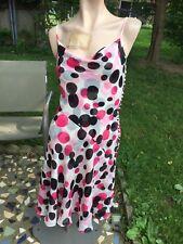 ESCADA Multicolor Polka Dot 100% Silk Spaghetti Straps Dress sz.34