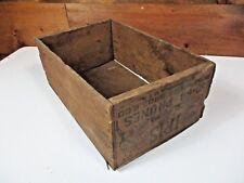 Antique Vintage IRIS Brand CALIFORNIA PRUNES Rosenberg Bros Fruit Crate Wood Box