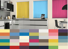 """TOP QUALITY REPLACEMENT VERTICAL SLATS 89mm (3.5"""") Made to Measure 60 COLOURS!"""