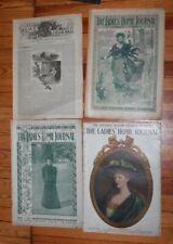 LADIES HOME JOURNAL 1886, 1897, 1898, 1906 4 ISSUES LADIES'