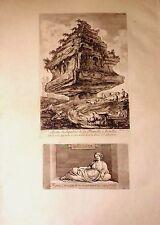 ITALIA/ ITALY, Roma / Rome, sepulcro familia Metella. Barbault, 1761