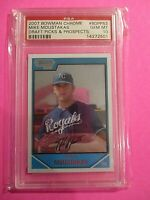 Mike Moustakas 2007 Bowman Chrome Draft Picks & Prospects Graded PSA 10 GEM MINT