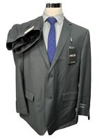 New Lineage Men's Charcoal Gray Big & Tall 3 Piece Suit 48R Jacket 42/27 Pants