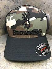 Browning Branded Camo Baseball Cap 308375294 L/XL Flex Fit