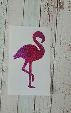 Flamingo Vinyl Car Decal Tumbler Mug cup decal 3.5 h W/Holographic effect. Right