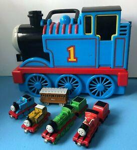 Thomas The Tank Engine Take 'N' Play Train Plastic Storage - Carry Case & trains