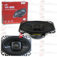 "BRAND NEW POLK AUDIO 4"" x 6"" 2-WAY CAR MARINE AUDIO COAXIAL SPEAKERS PAIR 4x6"""