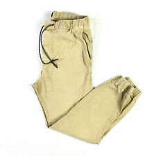 American Eagle Outfitters Mens Extreme Flex Jogger Pants Size M Beige Drawstring