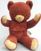 Knickerbocker Teddy Bear 14in Rayon Cinnamon Plush c1950s Jointed NY Seam Tag