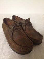 Womens Clarks Originals 38257 WALLABEE Brown Beeswax Leather Chukka Shoes 8.5 M