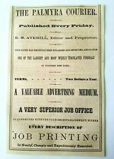 1867 New York Palmyra Courier Newspaper Journal Averill Lyons Advertisement Ad