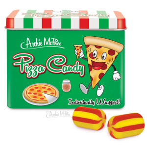 PIZZA CANDY 12 Piece Tin Flavor Hard Candy - Archie McPhee