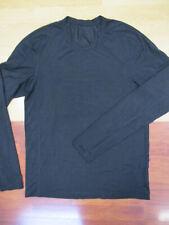 Lululemon Men's Black Silverescent Metal Vent Tech Long Sleeve Shirt - Medium