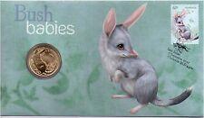 2011 Australia Post PNC - Bush Babies Bilby with one dollar coin