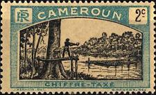 CAMEROUN - CAMERUN - 1925-1927 - Segnatasse: uomo abbatte un albero -