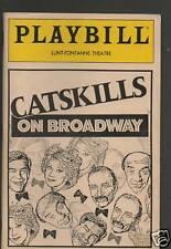 Vintage Playbill For Catskills On Broadway 1992