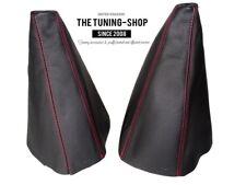 Cuffia Leva Cambio E Freno Per Nissan Terrano II 1999-2006 Pelle Cuciture Rosso