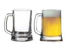 Set of 2 German Beer Stein 500ml Tankard Glass Beer Mug Drink Bar Pub