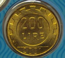 ITALIA REPUBBLICA 1977-2001 SERIE COMPLETA 200 LIRE DA DIVISIONALE ZECCA FDC