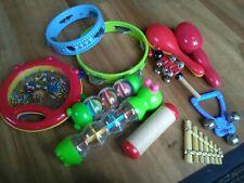 11 Asstd Children's Musical Toys Tambourines, Bells, Shaker & More